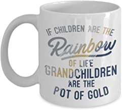 Grandchildren Are The Pot Of Gold Grandma Quotes Coffee & Tea Gift Mug Cup For A Proud New Grandmother, Grammy, Grammie, Grumpy, Nana Or Gigi 11oz White