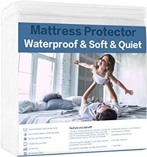 Abakan Mattress Protector Premium Coral Fleece Surface Waterproof Breathable Noiseless Cooling Mattress Pad Cover Soft Vinyl Free Mattress Encasement Twin XL 39x80 Inch