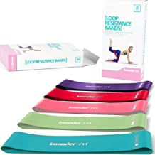 Insonder Resistance Bands Set - Latex Exercise Loop Bands for Workout and Stretching for Legs Butt Glutes Yoga Crossfit Fi...