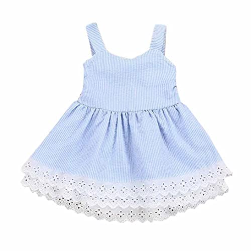 4fd546211c0 Junjie Toddler Kids Baby Girls Stripe Lace Sling Off The Shoulder Knee-Length  Party Pageant