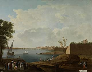 The High Quality Polyster Canvas Of Oil Painting 'Sanchez Mariano Ramon Vista Del Puerto De Santa Maria 1781 85 ' ,size: 18 X 23 Inch / 46 X 58 Cm ,this Reproductions Art Decorative Prints On Canvas Is Fit For Foyer Decor And Home Gallery Art And Gifts