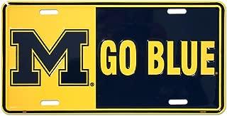 HANGTIME University of Michigan Tin Sign 12 x 6in