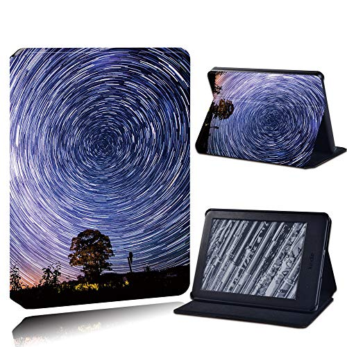 Case Cover For Kindle,Leather Pu Anti-Fall Tablet Case For Kindle Paperwhite 1/2/3/Paperwhite(5Th/6Th/7Th/10Th)/For Kindle (10Th /8Th)6 Inch + Stlyus /Meteor Shower/Anti Dust Fashion Accessories,For
