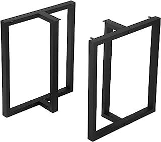 MBQQ 家具脚 高さ28インチ 幅24インチ 素朴な装飾T字型テーブル脚 高耐久メタルデスク脚 ダイニングテーブル脚 工業モダン DIY鋳鉄ベンチ脚