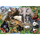QWERDF 1000 Rompecabezas Pieza para Adultos, Colorido Animal Rompecabezas Juegos Novedosos para La Familia De Bricolaje Rompecabezas De Juguete Juego,C