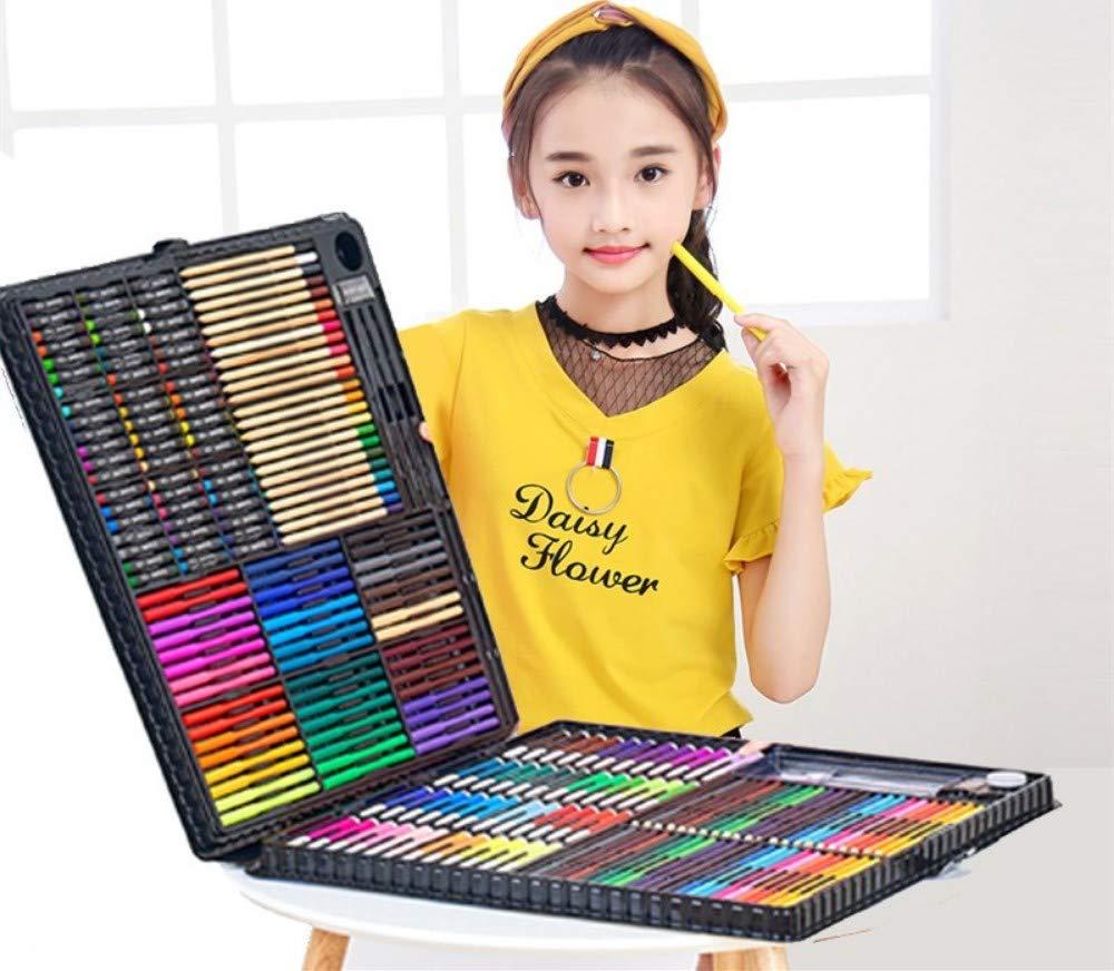 Lápices de Colores Profesionales 288PCS, Juego de Dibujo para niños, Pasteles al óleo, Juego de Arte de lápiz para Dibujo a Color para niños, Negro: Amazon.es: Juguetes y juegos