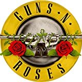 Official Guns N Roses Yellow Bullet Logo 9' Round Mouse Pad