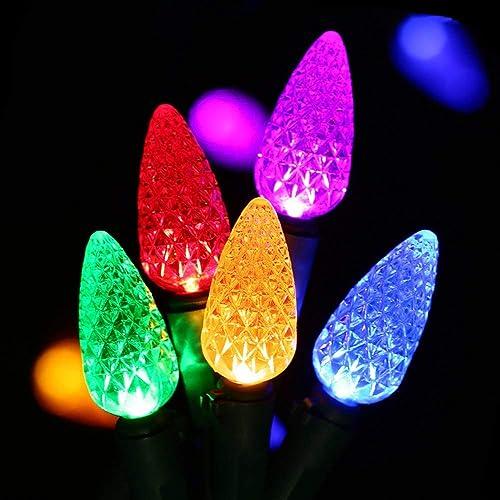 HAYATA C6 Bulbs Christmas Lights 50 LED 16ft Strawberry String Light -  Fairy Lighting for Outdoor - Christmas Lights C6 LED: Amazon.com