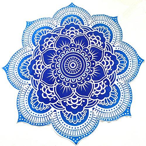 YAMUDA Tapiz Redondo de Flor de Loto, diseño Indio clásico, Mandala para...