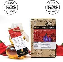 Soulflower Rose Geranium Aroma Massage Oil, 90ml
