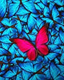 Runfar 5D Diamond Painting Kits for Adults Full Drill Square Rhinestone Embroidery Dotz Butterfly Craft Cross Stich Gift Home Decor Large Size 40x50cm/16x20inch