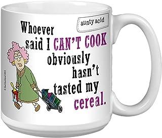 Tree-Free Greetings Extra Large 20-Ounce Ceramic Coffee Mug, Aunty Acid I Cook Cereal