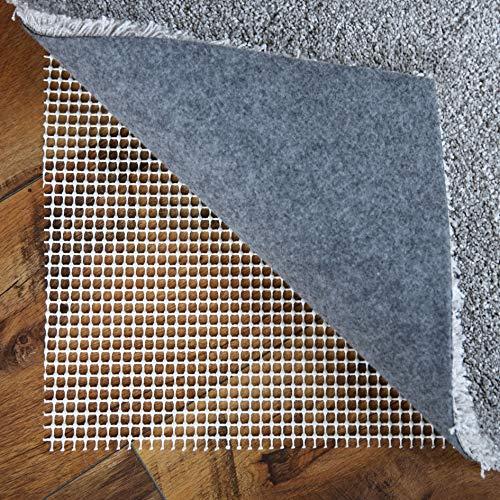 LILENO HOME Anti Rutsch Teppichunterlage aus Vinyl (110 cm rund) - Fußbodenheizung geeignete Teppich Antirutschmatte für Glatte und Harte Böden - Teppichstopper für EIN sicheres Zuhause