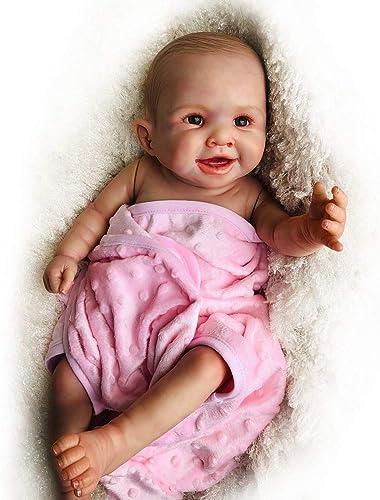SONGXM Realistische Schlafende Wiedergeborene Babypuppe Silikon mädchen 20 Zoll Reborn Baby Doll Outfit Kinder Spielzeug