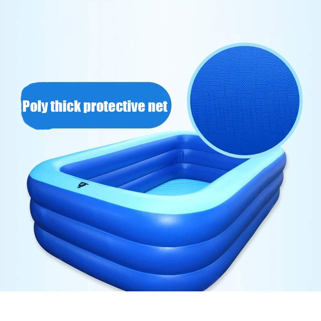 LI HUA Centro de natación Familiar Piscina para niños, Piscina Inflable, Piscina Inflable para niños, Jardín, Exterior, Patio Trasero, Edad 3+, Azul (Size : 200cmx145cmx60cm): Amazon.es: Hogar