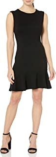Lark & Ro Womens Sheath Dress Black US Size XL Sleeveless Ruffle-Hem