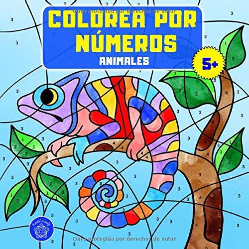 Colorea por números: Libro de colorear animales para niños a partir de 5 años + bono: mandalas de animales (colorear niños 5 años)