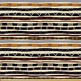 ABAKUHAUS Tribal Tela por Metro, Étnico Africano con Trippy Formas Geométricas Atemporal Herencia Salvaje, Microfibra Decorativa para Artes y Manualidades, 2M (230x200cm), Multicolor