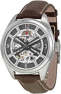 Khaki Skeleton Swiss Automatic Analog Silver Dial Men's Watch H72515585