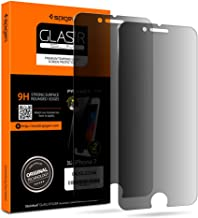 Spigen Privacy Tempered Glass Screen Protector [2 Pack] Designed for iPhone 8 / iPhone 7 - Black Privacy