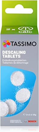Tassimo TCZ6004 4 Tablets for 2 Descaling Processes, White