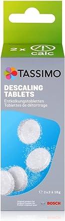 Tassimo TCZ6004 4 Tablets for 2 Descaling Processes, Plastic, White