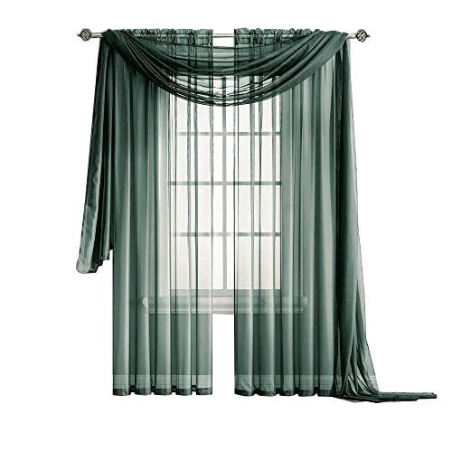 Sheer Curtains With Black Design: Amazon.com