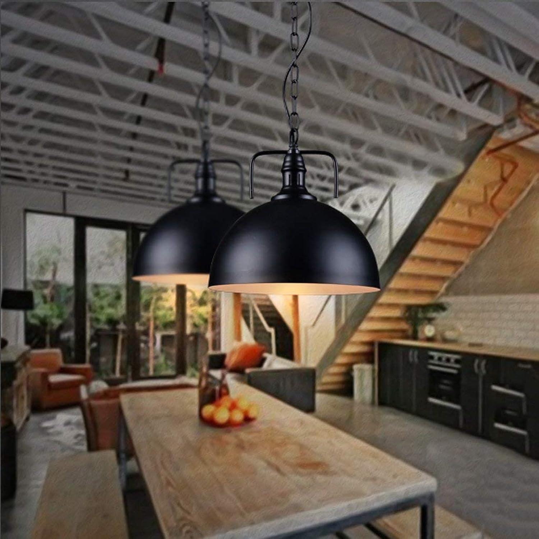 Loft Industrial Wind Restaurant Bar Kronleuchter Einfache Moderne Balkon Gang Treppe Lampe E27  1 (Hngende Kette Kann Sich Frei Einstellen) (Farbe  Schwarz)