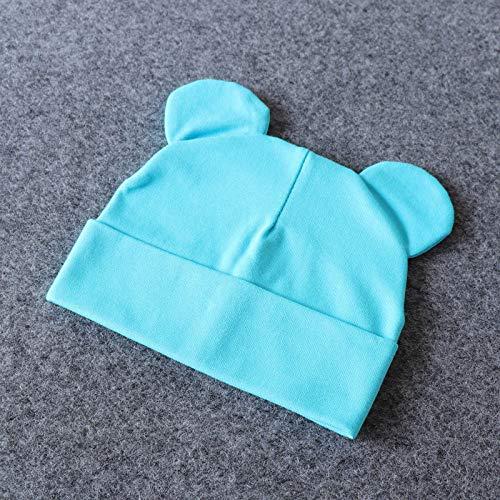 Gnrique Gorro De Punto,Vintage Beb Invierno Boina Azul Lindo Tener Odo Tejidos Beb Sombrero Azul Cielo Nios Nias Nio...