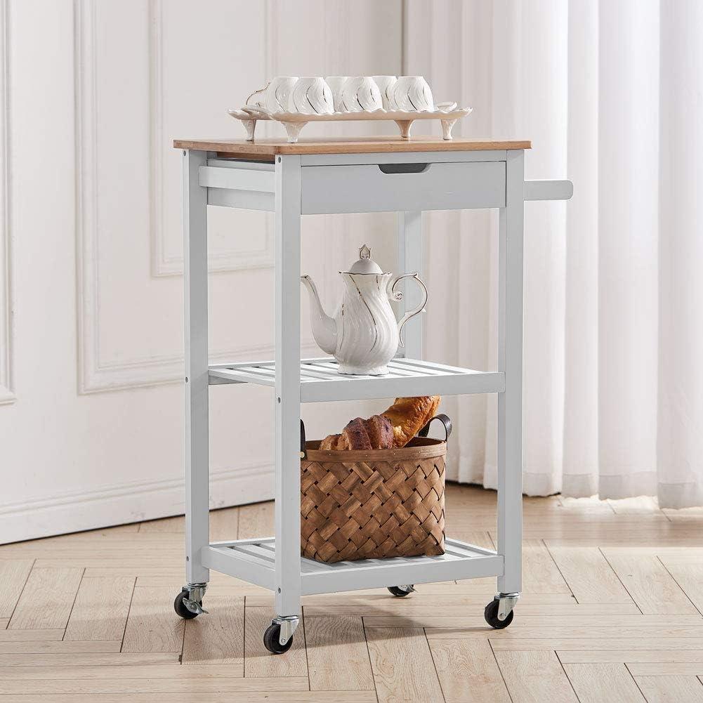 wholesape cheap XEMQENER 21 Tier Kitchen Cart Storage Trolley ...