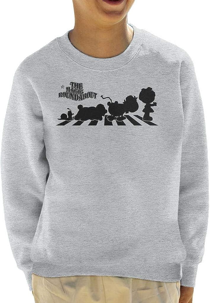The Magic Roundabout Characters Silhouette Kid's Sweatshirt