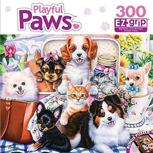 barato Masterpieces Playful Paws EZ Grip Fun Talla Puzzle (300 Piece) Piece) Piece) by MasterPieces  precio al por mayor