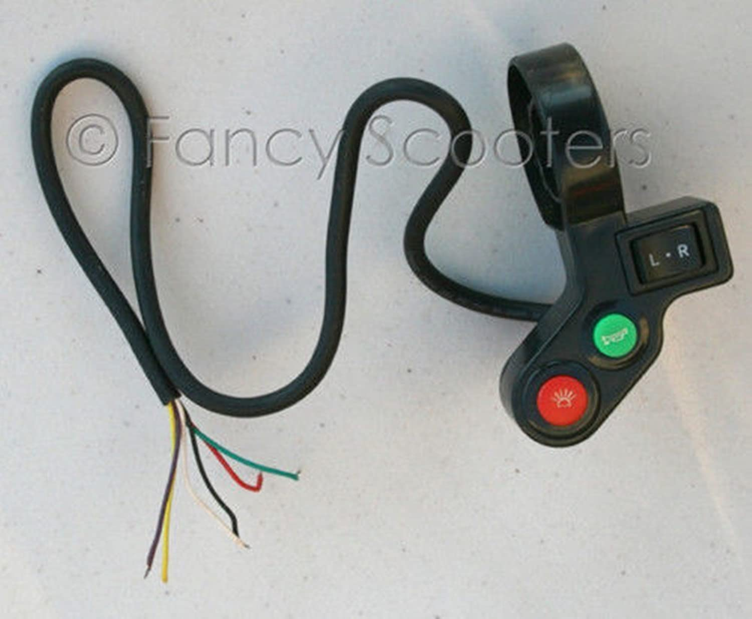 Scooter Gas Left Side Light Control with 6 Wires for 7 8 Diameter Handle BAR
