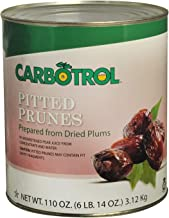 Carbotrol #10 Juice Packed Canned Fruit, Pitted Prunes (1 - 110oz Can)