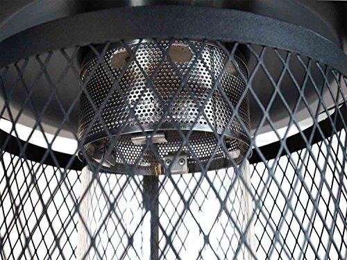 Traedgard Gas Heizstrahler Milano Kupfer mit Glasröhre 190 cm, versenkbar, mit Schutzhülle, Rollen und Gastroset, 65590 - 8