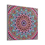 COZOCO Pintura Diamante Mandala kit de punto de costura artesanal set point patrón decorativo punto de cruz kit de bordado de diamante sala de estar o dormitorio decoración (Multicolor)