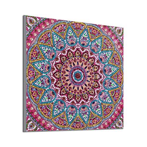 COZOCO Pintura Diamante Mandala kit de punto de costura artesanal set point patrón decorativo punto de cruz kit de bordado de diamante sala de estar o dormitorio decoración (Multicolor)