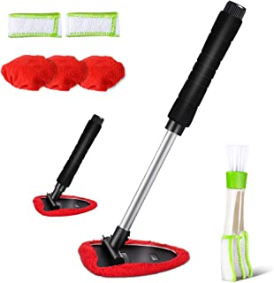 Car Cleaning Tools Kit Vehicles Interior Exterior Windshields Windows Clean with Window Blind Cleaner, 5 PCS Microfiber Cloth Masthome