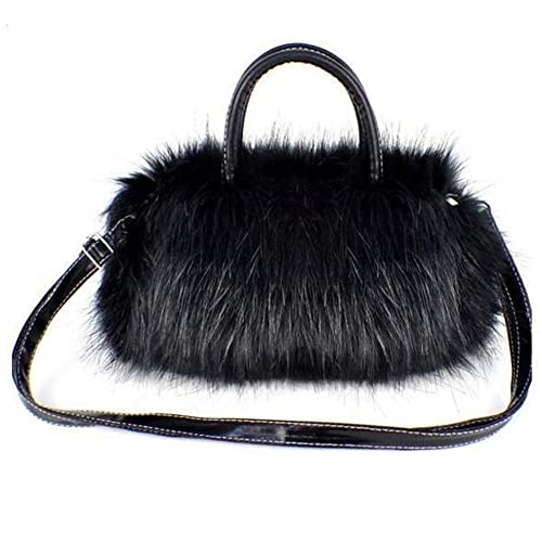 2a36d10ff8 Tenflyer Girls Lady Fashion Korean Style PU Leather  Faux Fur Tote Clutch  Shoulder Bag