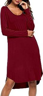 Long Sleeve Winter Nightgowns for Women Soft Long Sleep...