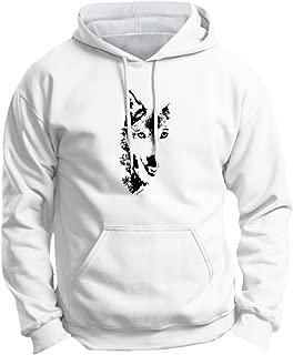 Wolf Face Shadow Sketch Wolves Premium Hoodie Sweatshirt
