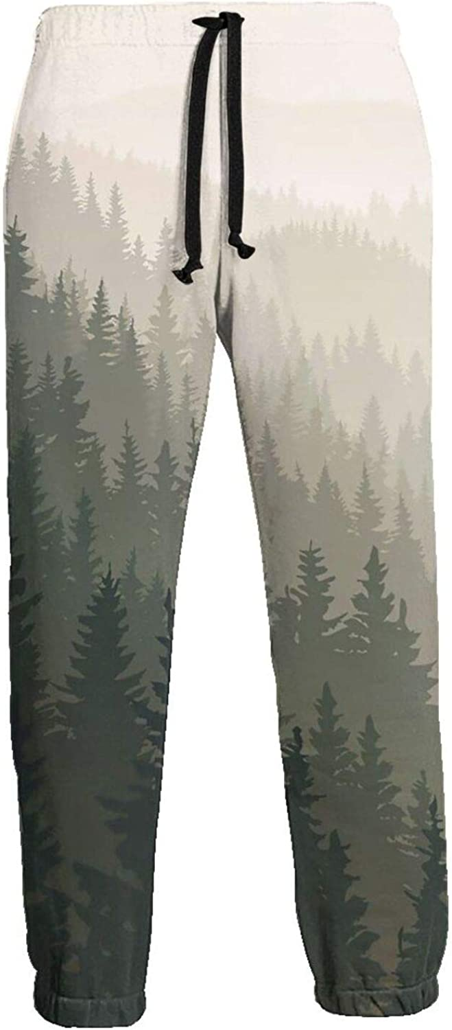 100% Cotton Activewear Baltimore Mall for Men W Wild Men's coniferous Spring new work Athletic