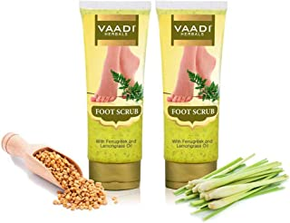 Vaadi Herbals Foot Scrub with Fenugreek and Lemongrass Oil, 110gx2