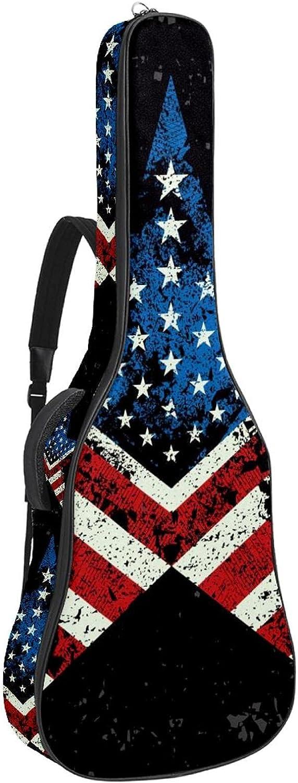 Free Shipping New Miami Mall Acoustic Guitar Bag Padding Waterproof Dual Adjustable Shoulder