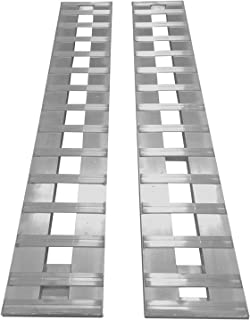 Set of 2. 7' Aluminum Ramps Car ATV Truck Trailer Ramps 2 RAMPs = 6000lb Capacity 84