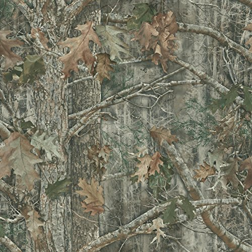 York Wallcoverings Kanati (Camo) Water-Activated Removable Wallpaper - Black |Spray with Water and Hang | Ultra Easy