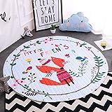 Kinder Aufräumsack Spielmatte Spielzeugteppich für kinderzimmer Speicher Tascheund Aufbewahrung ⌀150cm(Fre&)