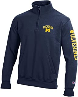 Elite Fan Shop NCAA Mens Quarter Zip Sweatshirt Arm Team