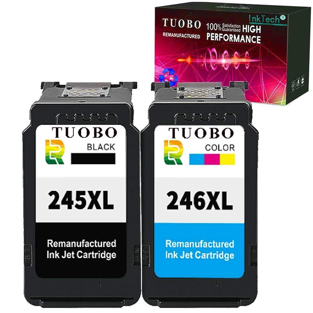 Tuobo Compatible with PG-245XL CL-246XL PG245 CL246 XL Ink Cartridge Combo, Work with PIXMA MX492 MG2520 MG2920 MG2420 MG2522 MG2922 IP2820 MX490 MG2525 MG3020 MG2555 MG2924 Printer