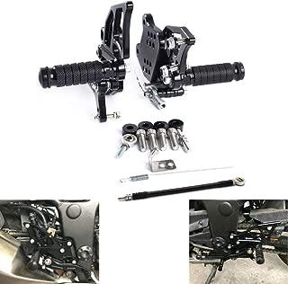 MZS Rearsets Footrests Footpegs CNC Adjustable Rear Sets compatible Kawasaki Ninja 300 300R EX300/ Ninja250 250 EX250 2013 2014 2015 2016 2017 Black